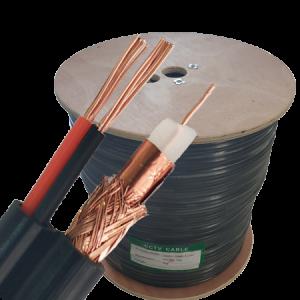 Kabl koaksijalni RG59+2×0.75, licnaste žice, Cu+CCA, drveni kalem, po metru