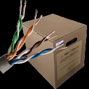 Kabl UTP CAT5E, pull box+ plastični kalem, halogen free, bunt 305m